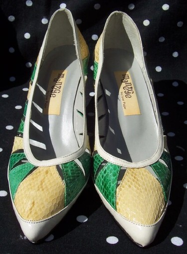 Greenyellowsnakeskinheels2