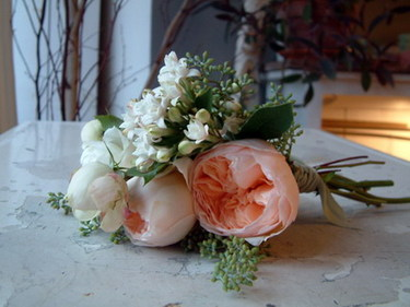 Peachgardenrosebouquet